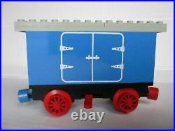 1980 LEGO TRAIN vintage 4,5V blue BATTERY BOX WAGON from railway 7720 very good