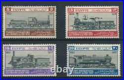 37237 Egypt 1933 Trains Good set Very Fine MH stamps