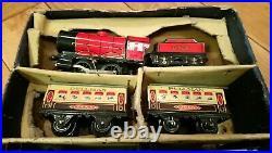 Antique 1950s Boxed Hornby M0 Clockwork Passenger Train Set VERY NICE SET