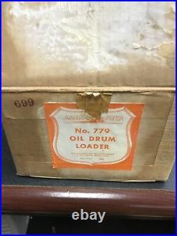 Antique Toy Train Set & Buildings. Very rare. New 1956. Original packaging. Rare