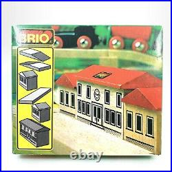 Authentic Brio Wooden Train Station! Vintage Set Very Rare Model No 33367