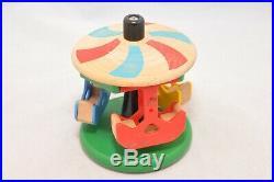 Brio MERRY-GO-ROUND-SET (#33221) / Vintage VERY RARE Brio wooden train piece