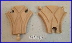Brio wooden Railway Train Split Y Track set very good condition #33350 se