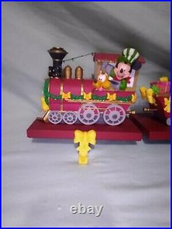 Disney Christmas Train Stocking Holder/hanger Full Set Of 4 Nib Very Rare