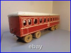 Hanse (lego Denmark) Vintage 1950's Wood Dsb Train Wagon Very Rare Item Vg