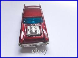 Hot Wheels Vhtf Red 57 Chevy From Train Set 5 Spoke In Very Good Condition Rare