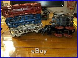 Hubley Cast Iron Floor Train with Hubley Normandie Passenger Cars very nice set