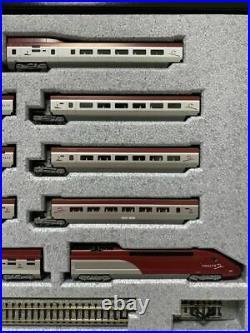 KATO N-Scale K10910 Thalys PBKA 10 car Set with Display UNITRACK VERY RARE