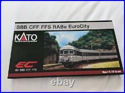 KATO N-Scale K11401 SBB CFF FFS RABe EuroCity 6-tlg. Set VERY RARE