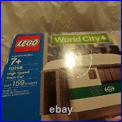 LEGO World City 9v High Speed Train Car (Item# 10158) Very Rare NISB