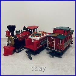 Large Santa North Pole Express Train Set Xmas With Very Tatty Box