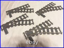 Lego 9V switch train track 2859 2861 dark bluish-grey set of 8 VERY NICE
