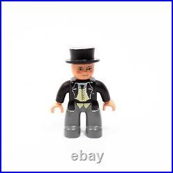 Lego Duplo Figure FAT CONTROLLER / SIR TOPHAM HATT Very Good Condition