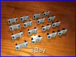 Lego train wheel sets 16x assemblies, gray, in very good condition