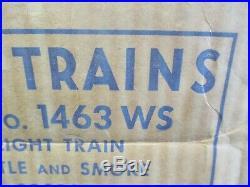 Lionel Postwar 1463 Ws Freight Train Set Original Box Only Very Good Condition