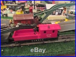 Lionel Postwar 1527 1615 Steam Work Train Set C8ln 1955 Very Sharp Most Boxes