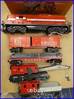 Lionel Postwar Set #2501W M & StL Work Train From 1958 Very Clean Boxes