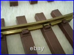 Lionel Trains Big G Scale Brass Track Lot Set 12 Curved 7 Straight Very Good