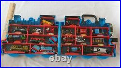Lot of (15) plus 2009 Thomas the train Lot and holder Set Very Nice