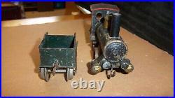 Marklin O Vintage Very Early Clockwork Train Set Engine, Tender & 3 Cars