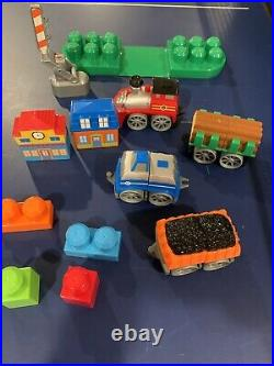 Mega Bloks Tiny'N' Tuff Train Set & Railway Very nice! RARE