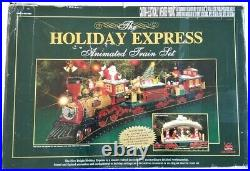 New Bright 384 Holiday Express Electric Animated Train Set NBRU0380 Very Nice