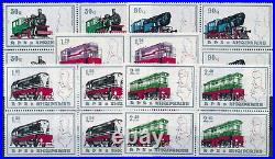 P15311 Albania 1989 Trains 4x Good Set Very Fine MNH Stamps in Blocks