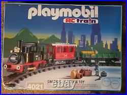 Playmobil train set 4021NEW(open box)NEVER USED Very Rare with4396 4385
