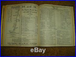Set Of Bound 1932 Southern Rr Passenger Train Schedulesvery Rare