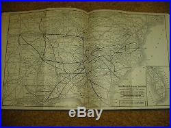 Set Of Bound 1933-1935 Southern Rr Passenger Train Schedulesvery Rare