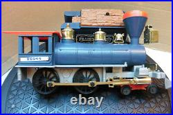 TIMPO 70`s BATTERY THE PRAIRIE ROCKET TRAIN SET & CREW NAVY & RED VERY GOOD