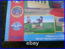 Thomas Trackmaster Thomas at Tidmouth Sheds Set (battery op'd) BOXED. VERY RARE