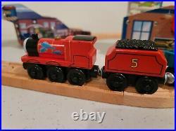 Thomas Wooden Railway rare James Fishy Delivery Set Very Good condition ne
