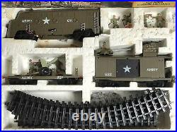 Timpo Toys Us Army Wwii Modern Army Battle Express Train Railway Set Very Rare