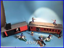 Timpo Toys Us Wild West Prairie Rocket Great Train Hold Up Railway Set Very Rare