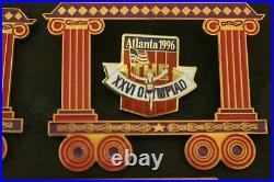 VERY RARE 1996 Atlanta Summer Olympic Pin Set Train (All Aboard to Atlanta)