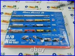 VERY RARE New Ray Railroad N Scale Die Cast Santa fe Train Set C44-9W