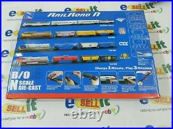 VERY RARE New Ray Railroad N Scale Die Cast Union Pacific Train Set C44-9W