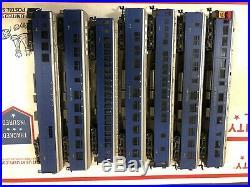 VINTAGE Ahm Rivarossi Wabash Railroad passenger car train 7 cars very nice set