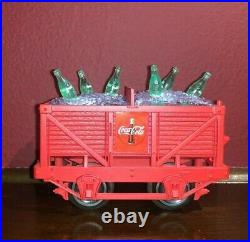 Very Cute Coca-Cola Polar Bear Train Set for around Christmas tree, handcar pump