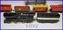 Very Nice Old Vintage Marx O Gage Wind Up Tin Toy Train Set