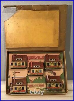 Very Rare 1930 Lionel Trains 186 5 Piece 184 Bungalows Set In Original Box Nice