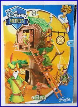 Very Rare 2004 Disney Heroes Robin Hood Castles Tree House Famosa New