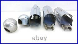 Very Rare Hoge Chrome Diesel Engine # 900 U. S. Mail Streamlin 3 Piece Train Set
