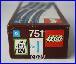 Very Rare Vintage 1974 Lego 751 Train Track 12v New Sealed