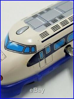 Very Rare! Vintage Japanese Tinplate Shinkansen Train Retro 4 types set Japan