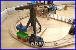 Very large wooden train set bundle rail track / road / parking garage etc