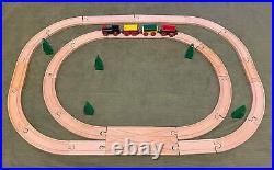 Vintage BRIO #33138 Wooden Railway Train Set (RIMLESS WHEELS) Complete VERY RARE
