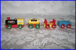Vintage Brio Wooden Train Set c. 1960s Collectible Antique VERY GOOD Condition