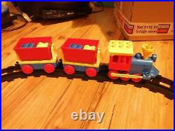 Vintage Lego Duplo Freight Train Set 2700 Complete Lovely Condition Very Rare